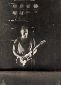 David Gilmour under gårsdagens koncert i Parken.